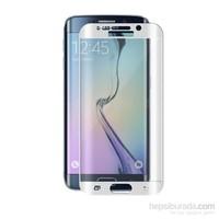 Teleplus Galaxy S6 Edge Plus Cam Ekran Koruyucu Kavis Kısmı Dahil Full Koruma Beyaz
