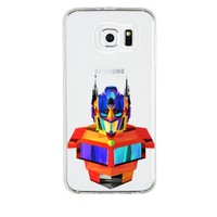 Remeto Samsung Galaxy Note 5 Transparan Silikon Resimli Transformers Optimus Prime