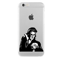Remeto Samsung Galaxy Note 2 Elvis Presley Transparan Silikon Resimli Kılıf