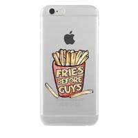 Remeto Samsung Galaxy Note 2 Fries Before Guys Transparan Silikon Resimli Kılıf