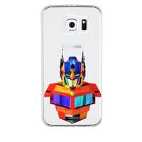 Remeto Samsung Galaxy E7 Transparan Silikon Resimli Transformers Optimus Prime