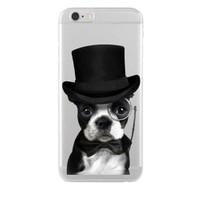 Remeto Samsung Galaxy A7 Soylu Köpek Transparan Silikon Resimli Kılıf