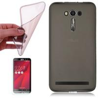 Cep Market Asus Zenfone 2 Kılıf 0.2Mm Antrasit Silikon + Cam
