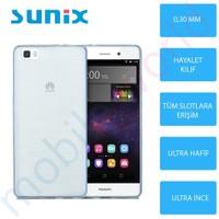 Sunix Huawei P8 Lite Ultra İnce Silikon Kapak Mavi