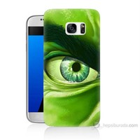 Teknomeg Samsung Galaxy S7 Kapak Kılıf Hulk Yeşil Dev Baskılı Silikon