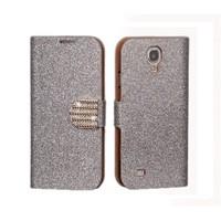 Microsonic Pearl Simli Taşlı Suni Deri Kılıf - Samsung Galaxy S4 Mini i9190 Beyaz
