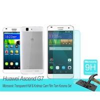 Microsonic Huawei Ascend G7transparent Kılıf & Film Tam Koruma Set