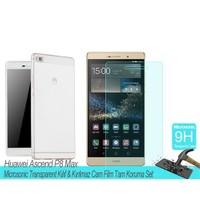 Microsonic Huawei Ascend P8 Lite Transparent Kılıf & Film Tam Koruma Set