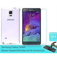 Microsonic Samsung Galaxy Note 4 Transparent Kılıf & Film Tam Koruma Set