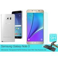 Microsonic Samsung Galaxy Note 5 Transparent Kılıf & Film Tam Koruma Set