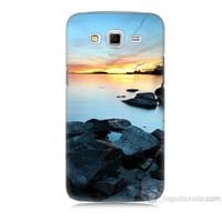 Teknomeg Samsung Galaxy Grand 2 Kapak Kılıf Kayalık Baskılı Silikon