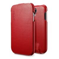 Spigen Samsung Galaxy S4 i9500 Kılıf Argos Red Dik Kapaklı Kılıf