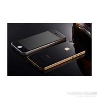 Teleplus İphone 5 Renkli Cam Ekran Koruyucu Ön + Arka Cam Ekran Koruyucu Siyah