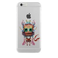 Remeto LG G4 Transparan Silikon Resimli Maskeli Kızılderili