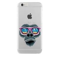 Remeto LG G4 Relax Goril Transparan Silikon Resimli Kılıf