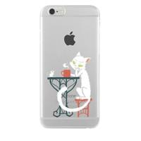 Remeto iPhone 6/6S Plus Şeffaf Silikon Resimli Efkarlı Kedi