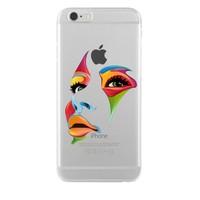 Remeto iPhone 6/6S Plus Renkli Yüz Şeffaf Silikon Resimli Kılıf
