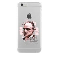 Remeto iPhone 6/6S Plus Godfather Apple Şeffaf Silikon Resimli Kılıf