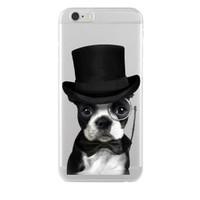 Remeto iPhone 6/6S Plus Soylu Köpek Apple Şeffaf Silikon Resimli Kılıf