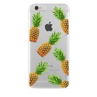 Remeto iPhone 6/6S Ananaslar Apple Şeffaf Silikon Resimli Kılıf