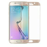 Case 4U Samsung Galaxy S6 Edge 3D Kavisli Cam Ekran Koruyucu Altın