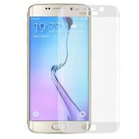 Case 4U Samsung Galaxy S6 Edge 3D Kavisli Cam Ekran Koruyucu Şeffaf