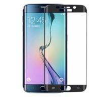 Case 4U Samsung Galaxy S6 Edge 3D Kavisli Cam Ekran Koruyucu Siyah
