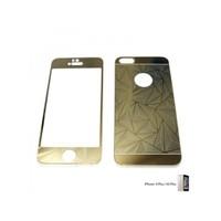 Glass Apple İphone 6 Plus / 6S Plus Aynalı Desenli Renkli Ekran Koruyucu Film