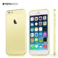 Totu Design Apple iPhone 6 Soft Sarı Kılıf