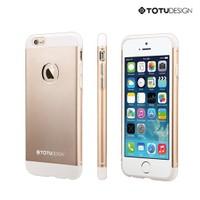 *Totu Design Apple iPhone 6 Knight Series Metal Arka Kapak Altın