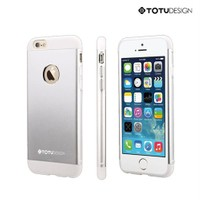 Totu Design Apple iPhone 6 Knight Series Metal Arka Kapak Gümüş*