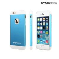 Totu Design Apple iPhone 6 Knight Series Metal Arka Kapak Mavi