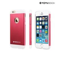 Totu Design Apple iPhone 6 Knight Series Metal Arka Kapak Pembe
