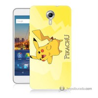 Teknomeg General Mobile Discovery 4G Andorid One Kapak Kılıf Pokemon Pikachu Baskılı Silikon