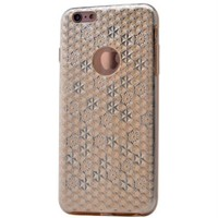 Teleplus İphone 6S Plus Desenli Silikon Kılıf Gold