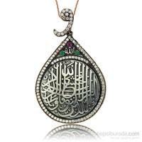 Olivin Accesories Gümüş Vav Halkalı Nazar Ayeti Kolye 432878