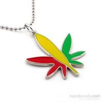 Solfera Sarı Kırmızı Yeşil Cannabis Erkek Kolye K492