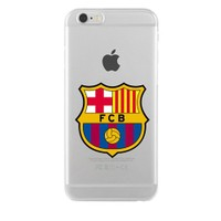 Remeto Samsung Galaxy S4 Mini Transparan Silikon Resimli Barcelona Logo