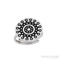 Argentum Concept Mandala Motifli Gümüş Yüzük