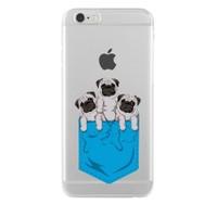 Remeto Samsung Galaxy S5 Mini Transparan Silikon Resimli Yavru Köpekler Cepte