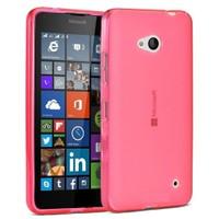 Teleplus Nokia Lumia 640 Tam Korumalı Silikon Kılıf Kırmızı