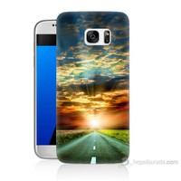 Teknomeg Samsung Galaxy S7 Kapak Kılıf Yol Baskılı Silikon