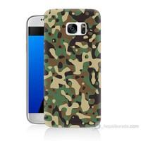 Teknomeg Samsung Galaxy S7 Kapak Kılıf Askeri Kamuflaj Baskılı Silikon