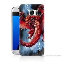 Teknomeg Samsung Galaxy S7 Kapak Kılıf Dragon Baskılı Silikon