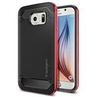 Spigen Samsung Galaxy S6 Kılıf Neo Hybrid Metal Metal Red - 11323