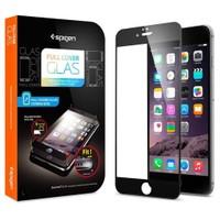 Spigen Apple iPhone 6S/6 Screen Protector Full Cover Glass Full Kaplayan Cam Koruyucu Siyah - 11376