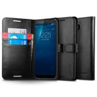 Spigen HTC M9 Kılıf Wallet S (Cuzdan) Siyah - 11392
