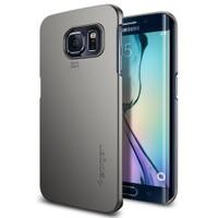 Spigen Samsung Galaxy S6 Edge Kılıf Thin Fit Gun Metal - 11410