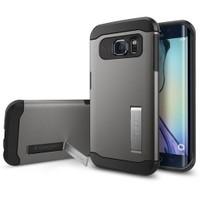 Spigen Samsung Galaxy S6 Edge Kılıf Slim Armor Metal Slate - 11426