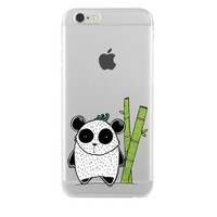Remeto Samsung Galaxy J1 Transparan Silikon Resimli Bambulu Panda